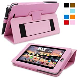Nexus 7 Case, Snugg™ - Smart Cover with Flip Stand & Lifetime Guarantee (Candy Pink Leather) for Nexus 7