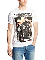 ICONIC COLLECTION - TERMINATOR Camiseta Manga Corta T2 I Need Your Motor Cycle (Blanco)