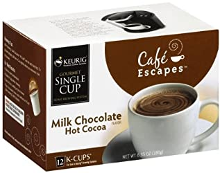 Cafe Escapes Hot Cocoa Milk Chocolate, 12-Count K-Cups