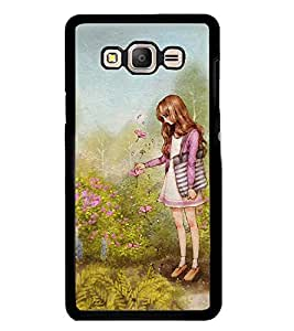 Printvisa Girl In A Garden Back Case Cover for Samsung Galaxy On7::Samsung Galaxy On7 G600FY