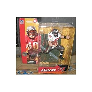 Mike Alstott #40 Tampa Bay Buccaneers White Jersey Chase Alternate Variant McFarlane NFL Series 6 Action Figure