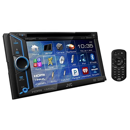 JVC KW-V31BT DVD/CD/USB Receiver with 6.1-inch WVGA Touch Panel Monitor HDMI Input and Built-in Bluetooth