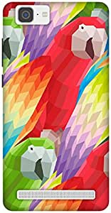 The Racoon Grip Parrots hard plastic printed back case / cover for Vivo X5 Max