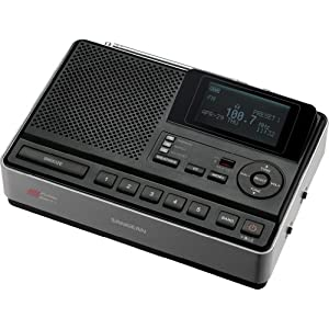 Sangean CL-100 S.A.M.E. Weather Hazard Alert Radio with AM/FM-RDS/Clock (Black)