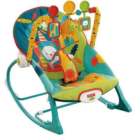 Great Deal! Fisher-Price Infant to Toddler Rocker Sleeper, X7046, Safari Pattern
