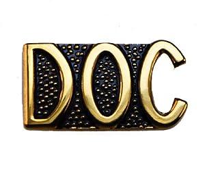Doc Script Doctor Hospital Medic Medical Caduceus Hat or Lapel Pin