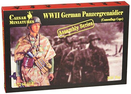 German Panzer Grenadier Figurine (Camouflage Cape) (1:72)