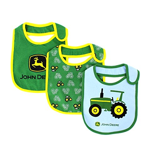 John Deere Baby 3 pk Bib Set (Green/Yellow)