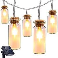 Oak Leaf 9.8-Foot 30-LED Glass Jar Solar LED Light Strand (Warm White)