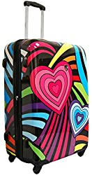 "Heys USA Novus Art Hearts Rainbow 26"" Spinner"