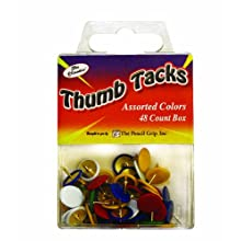 Pencil Grip The Classics Thumb Tacks, Assorted Colors, 48 Count Box (TPG-227)