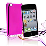 Ultra Slim Glossy Mirror Case Cover For Apple iPod Touch 4G Gen Wi-Fi Models 8GB 32GB 64GB + 2 x Free LCD Screen Protectors