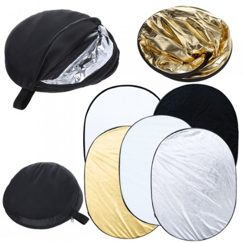 TIMETOP 35 x 47 inch Oval 5 in 1 Photography Studio Multi Photo Collapsible Light Reflector