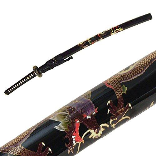 DerShogun Dragon Katana Samuraischwert - Damaszener Stahl - verzierte Saya