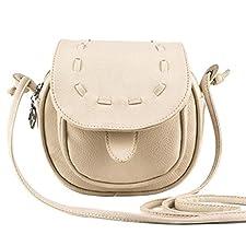Attache sac à main épaule pour femmes en croix Sac Sacoche Pochette pour Téléphone portable - Beige - Small