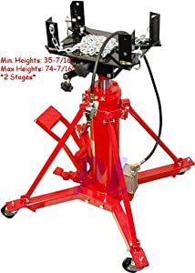 Heavy Duty 1 Ton AIR / Manual Hydraulic Telescopic Transmission Jack Under Hoist
