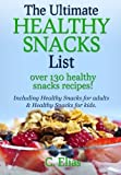 The Ultimate Healthy Snack List including Healthy Snacks for Adults & Healthy Snacks for Kids: Discover over 130 Healthy Snack Recipes - Fruit Snacks, ... Recipes, Gluten-Free Snacks and more!