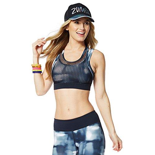 Zumba Fitness Hot In Here-Reggiseno sportivo da donna, modello Back to Black taglia: M (taglia del produttore: M)