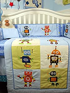 Mechanical Heros 14 Piece Boy Crib Bedding Set from SoHo Designs
