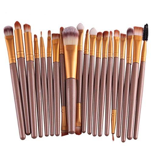 Ularma 1 set de 20 pièces Pinceaux Maquillage Brush Set outils Maquillage Toilette Kit laine faire Up Brush Set (or)