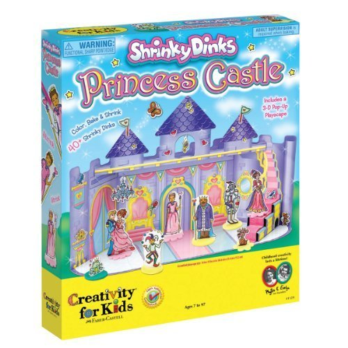 Shrinky Dinks Princess Castle - Includes 40+ Shrinky Dinks And 3D Castle By Creativity For Kids front-623515