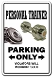 51ncGOPaj%2BL. SL160  PERSONAL TRAINER ~Sign parking weights gym fitness gift