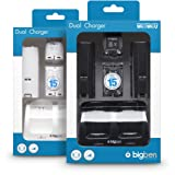 Pack 2 batteries 700 mAh + 2 capots et un double socle de charge + 1 cable USB pour Wii Remote - Assortiment (Pack noir ou Pack blanc)par Big Ben