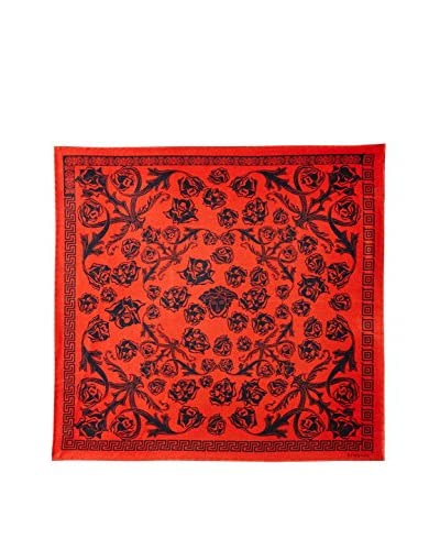 Versace Women's Floral Silk Scarf, Red/Black