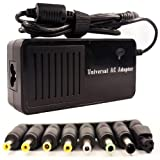 Universal Laptop Notebook AC Adapter Power Supply Charger Cord for ASUS, Averatec, Compaq, Dell, Fujitsu, Gateway, HP, IBM, NEC, Panasonic, Sony, Toshiba with 9 DC Connectors (90W)