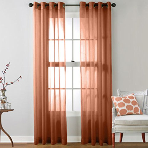 Maoyuantech 1 Piece Home Decor Sheer Window Curtains/drape/panels/treatment size 39