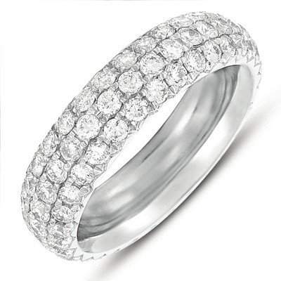 14k 2.26 Dwt Diamond White Gold Pave Eternity