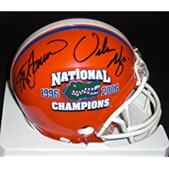Steve Spurrier and Urban Meyer Dual Autographed Hand Signed Florida Gators 2x...