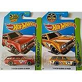 Hot Wheels Hw Workshop - '71 Datsun Bluebird 510 Wagon (Red & Yellow) Set of 2!!