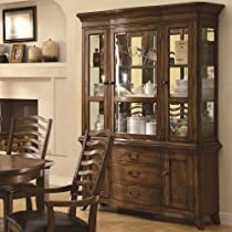 Hot Sale Coaster Furniture 103544 AVery Casual China Cabinet with 3 Drawers and Mirrored Back Panels in Brown Oak 103544
