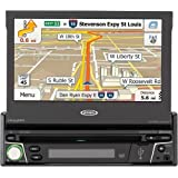 "Jensen 7"" Navigation Flip Out Touchscreen CD/DVD Receiver with Built in Bluetooth VX7010"