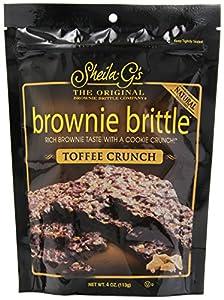 Sheila G Brownie Brittle, Toffee Crunch, 4 Ounce