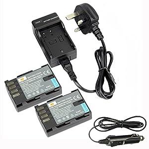 DSTE® 2pcs DMW-BLF19E Replacement Li-ion Battery + Charger DC141U for Panasonic Lumix DMC-GH3, DMC-GH3A, DMC-GH3AGK, DMC-GH3GK, DMC-GH3H, DMC-GH3HGK, DMC-GH3KBODY, DMC-GH4H, DMC-GH4