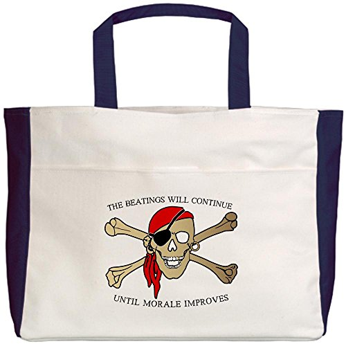 Royal Lion Beach Tote (2-Sided) Pirate Beatings Will Continue Morale
