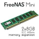 FreeNAS Mini - Memory Upgrade - 2 x 8GB DDR3 1600Mhz ECC Unbuffered