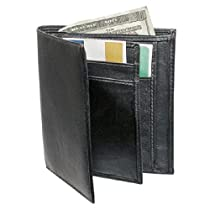 Mens Folding Leather Wallet Money Organizer
