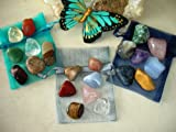 Seven Chakras Crystal Healing Balancing and Meditation Kit Tumbled Stones - Reiki Yoga