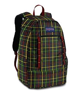 JanSport Wavelength Laptop Backpack (Black/Rasta London Plaid)
