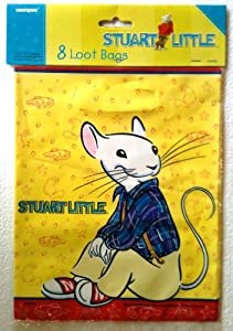 STUART LITTLE Party Favor Treat Loot Bags (8 Count)