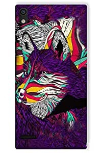 IndiaRangDe Hard Back Cover FOR Huawei Ascend P6