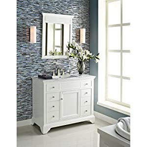 Amazing Nantucket 42 Inch Single Sink Bathroom Vanity Set In Alpine White