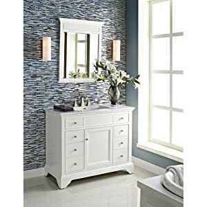 Fairmont designs 42 inch framingham vanity polar white for Bathroom ideas amazon