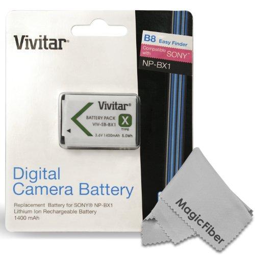 Vivitar Np-Bx1/M8 Ultra High Capacity 1400 Mah Li-Ion Battery For Sony Cybershot Dsc-Rx100 Iii Dsc-Rx100 Ii Rx1 Rx1R Hx400V Hx300 Hx50 Hx50V Wx300 Hdr-As30V As15 Cameras (Sony Np-Bx1/M8 Replacement)
