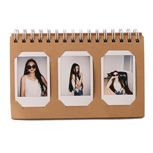 [Fujifilm Instax Mini Photo Album]Woodmin 60 Pockets Calendar Photo Album for Instax Mini /Pringo 231/ SP 1/Polaroid PIC-300P/Polaroid Z2300 Film(Brown) (Pic Display Case compare prices)
