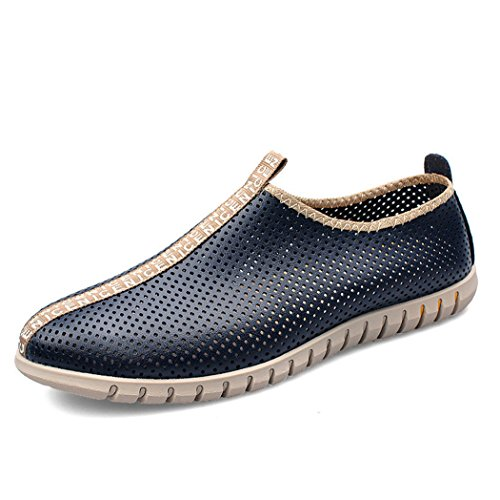 Autumn Melody Fashion Hollow Breathable Men Casual Shoes Size 10.5 US Blue (Rice Jhumpa Lahiri compare prices)