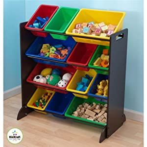 KidKraft Sort It And Store It Bin Unit - Espresso from KidKraft